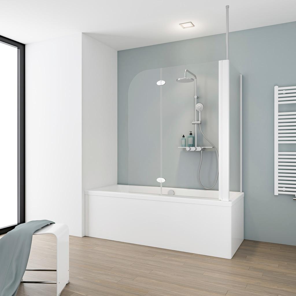 Schulte Badewannenaufsatz, BxHxT: 114,5 x 140 x 70 cm, mit Deckenverstrebung