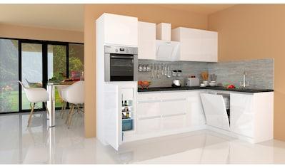 RESPEKTA Winkelküche »Usedom«, mit E - Geräten, mit Soft - Close Funktion, Breite 280 x 172 cm kaufen