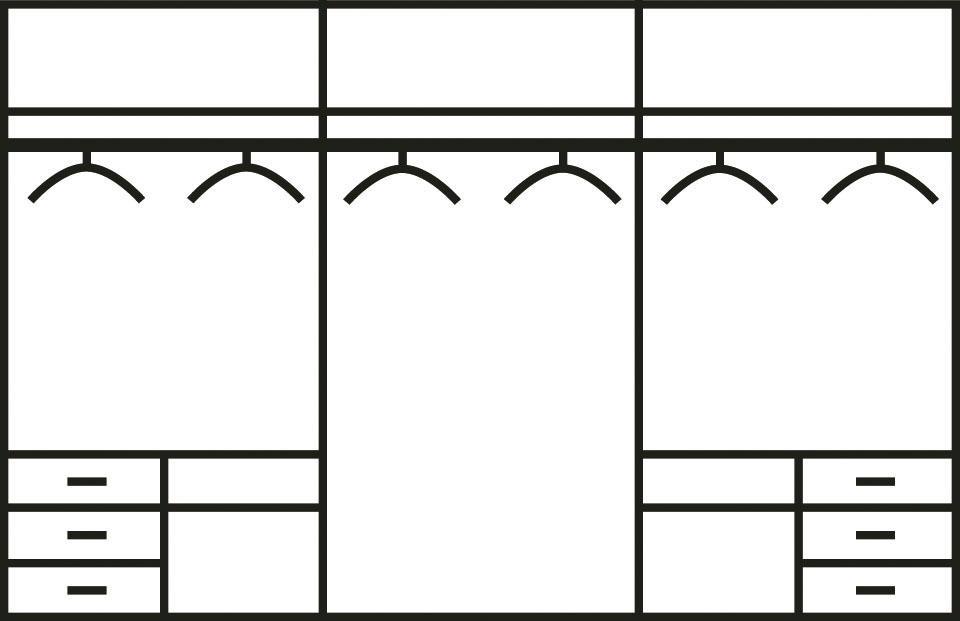 Fresh To Go Schwebetürenschrank »Level«, mit Glastüren und Synchronöffnung   Schlafzimmer > Kleiderschränke > Schwebetürenschränke   Glas - Leinen   FRESH TO GO