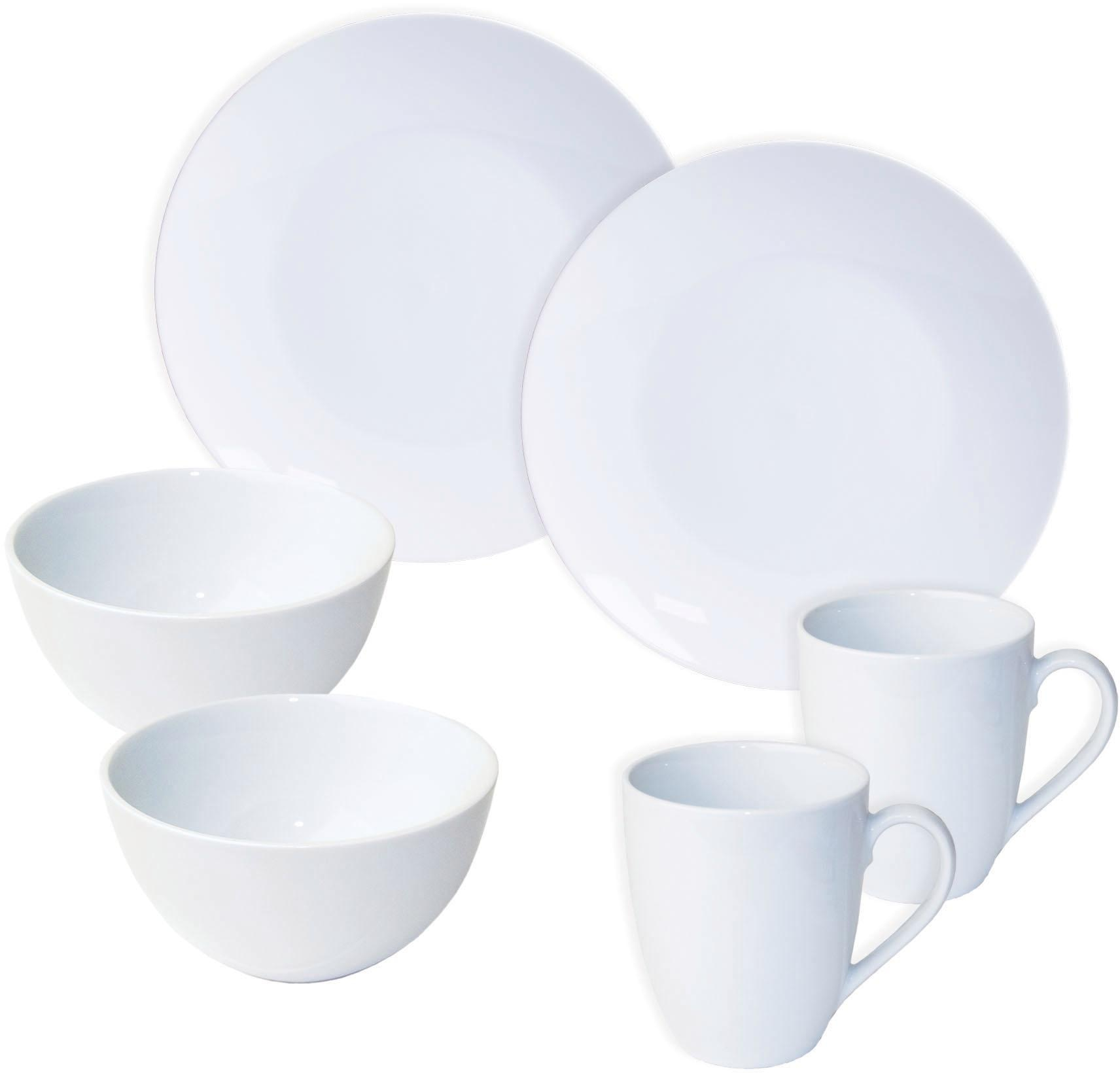 Platte 28cm Serie Lilli Servierplatte eckig weiß Kuchenplatte Geschirr Porzellan