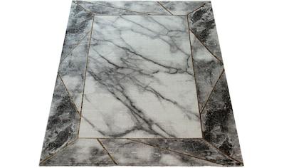 Paco Home Teppich »Kraft 525«, rechteckig, 17 mm Höhe, Kurzflor mit Marmor-Design und... kaufen