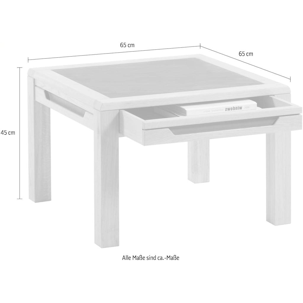 DECKER Couchtisch »AMENO«, mit eingelassener Schieferplatte, in verschiedenen Größen