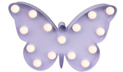 MARQUEE LIGHTS LED Dekolicht »Schmetterling«, 1 St., Warmweiß, Wandlampe, Tischlampe... kaufen