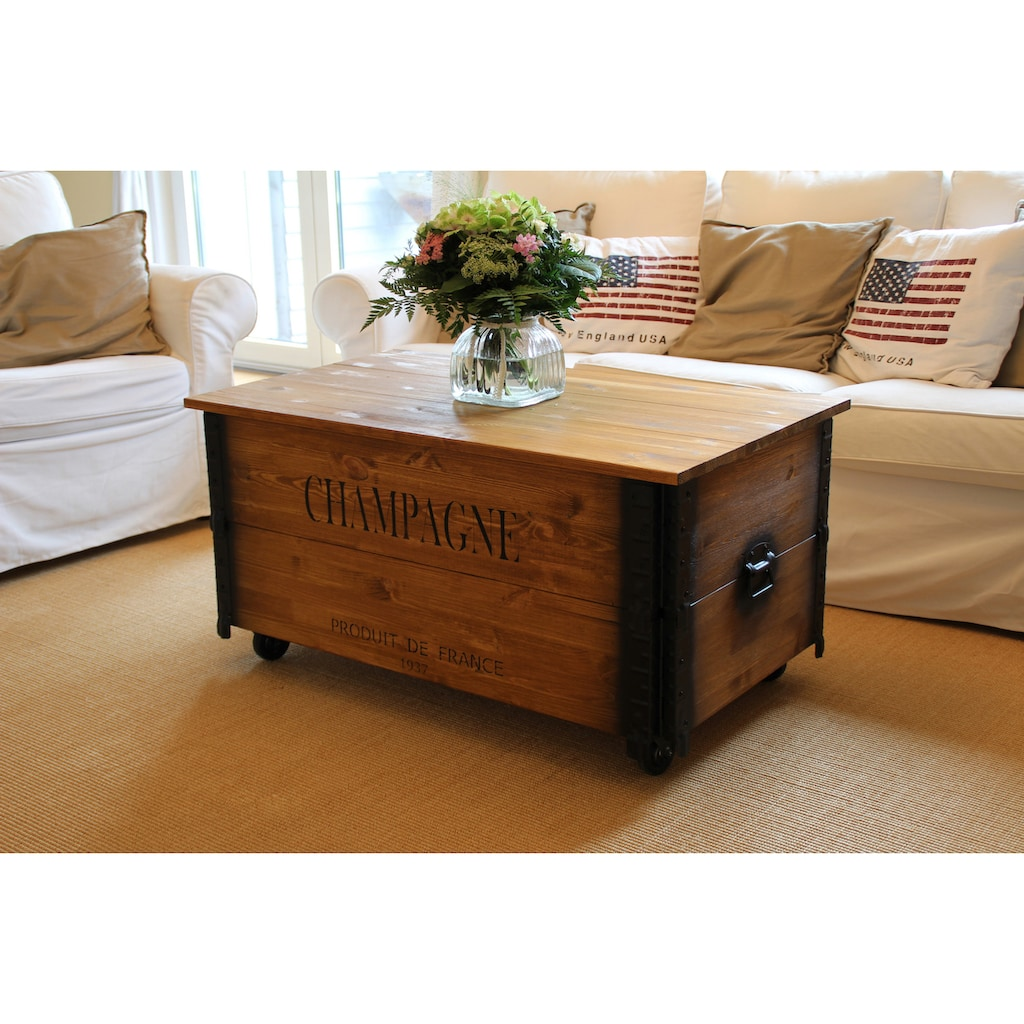 Uncle Joe´s Couchtisch »XL Champagne«, im Truhen-Design