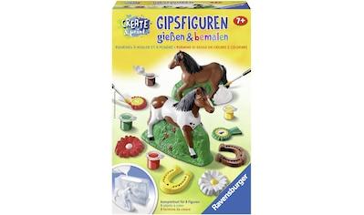 Ravensburger Kreativset »Create & Paint Pferd«, (Set), Gipsfiguren können gegossen und... kaufen