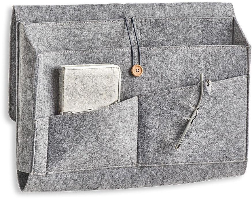 Zeller Present Aufbewahrungstasche Couch-Organizer, Filz, grau, (1 St.) grau Aufbewahrungstaschen Aufbewahrung Ordnung Wohnaccessoires