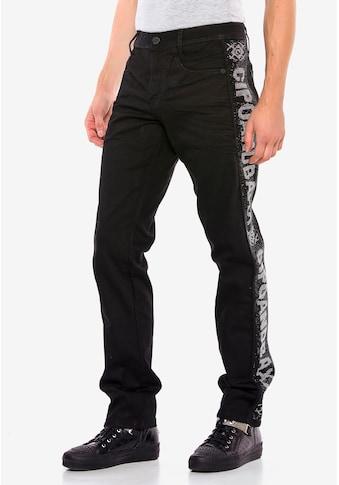 Cipo & Baxx Bequeme Jeans, mit Glitzer-Seitenstreifen kaufen