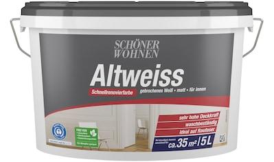 SCHÖNER WOHNEN-Kollektion Wand- und Deckenfarbe »Altweiß« kaufen