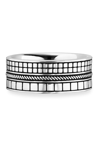 CAÏ Fingerring »925/- Sterling Silber rhodiniert Struktur«, Ring kaufen