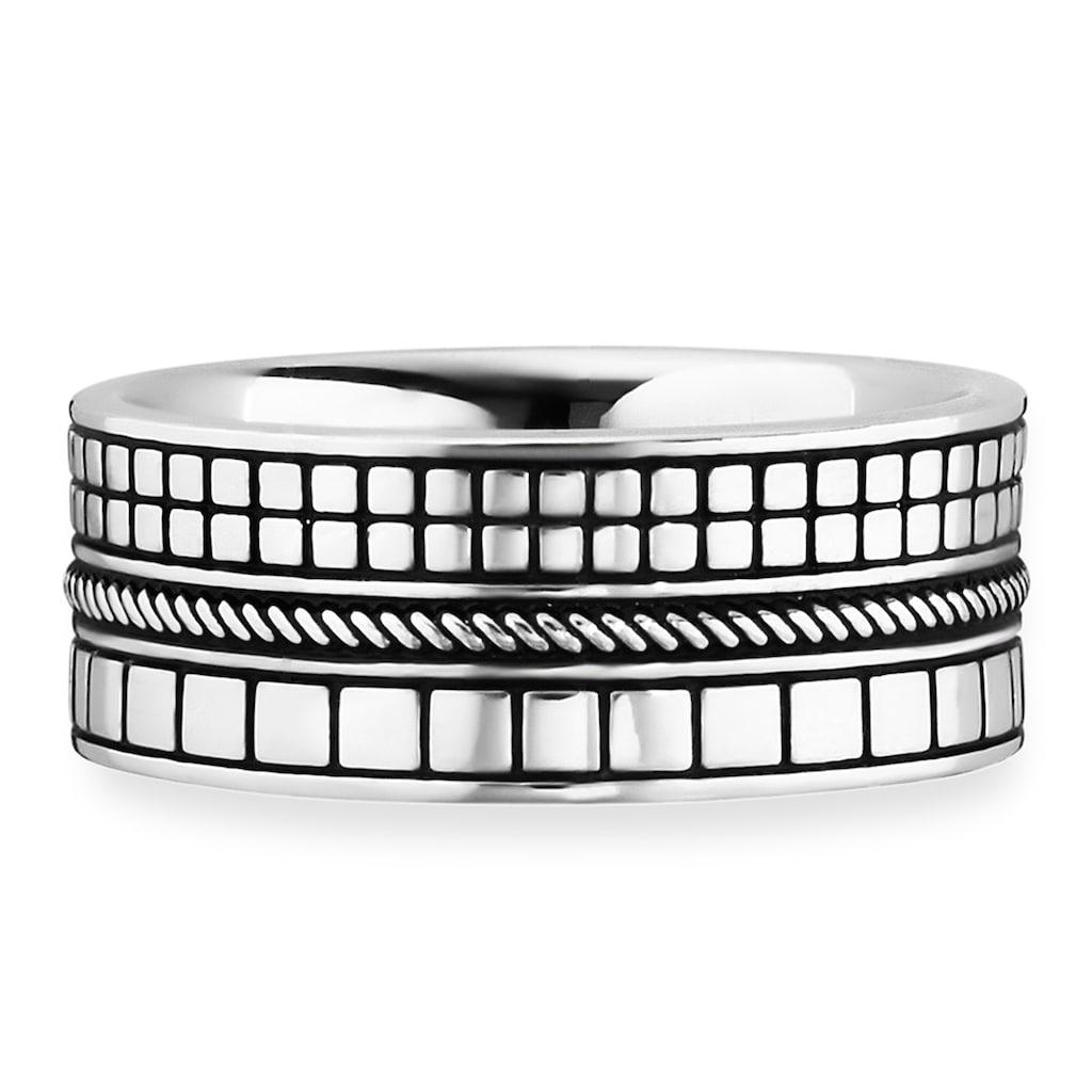 CAÏ Fingerring »925/- Sterling Silber rhodiniert Struktur«, Ring