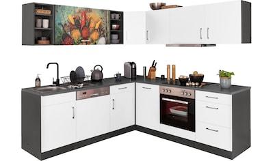 HELD MÖBEL Winkelküche »Paris«, mit E-Geräten, Stellbreite 220/220 cm kaufen