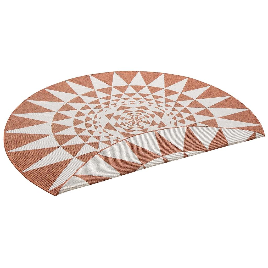 my home Teppich »Bela«, rund, 5 mm Höhe, Sisal-Optik, In- und Outdoor geeignet, Wohnzimmer