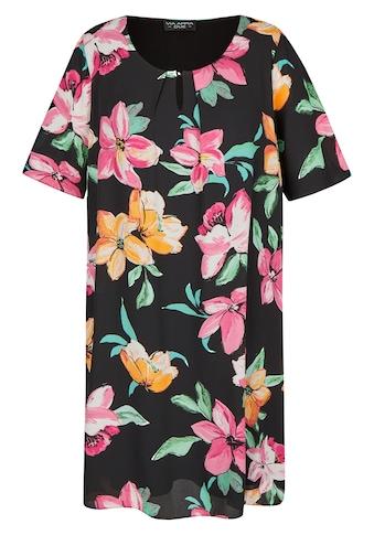 VIA APPIA DUE Luftiges Kleid mit Allover-Blumen-Print kaufen