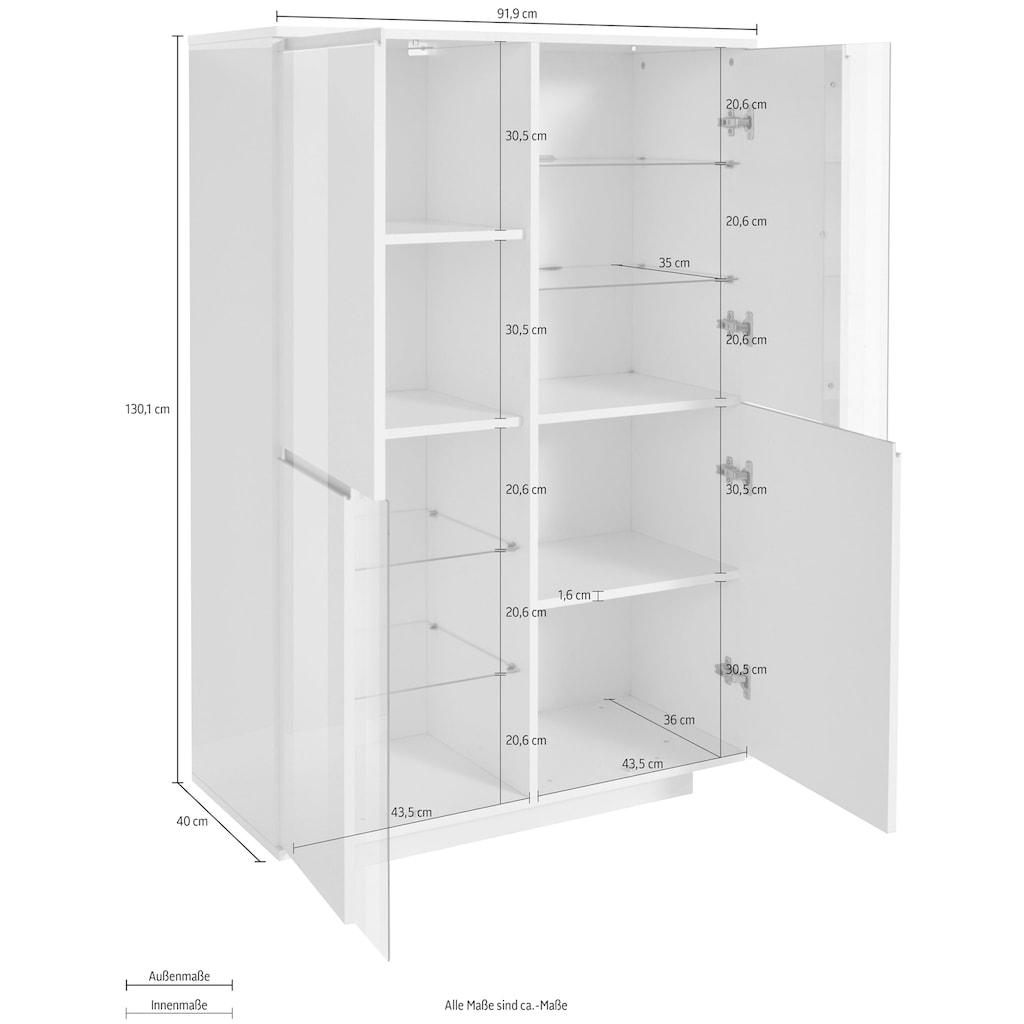 Tecnos Highboard »Elegant«, Breite ca. 91 cm
