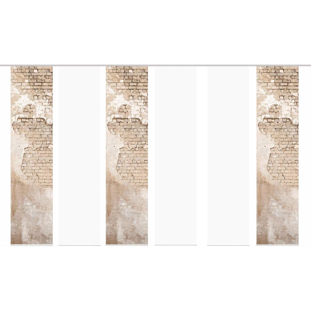 HOME WOHNIDEEN Schiebegardine »WALLONA 6ER SET«, HxB: 245x60