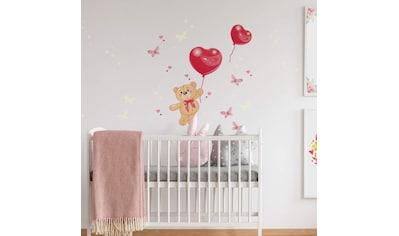Wall-Art Wandtattoo »Luftballons Leuchtsticker Bärchen« kaufen