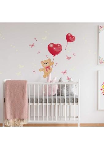 Wall - Art Wandtattoo »Luftballons Leuchtsticker Bärchen« (1 Stück) kaufen
