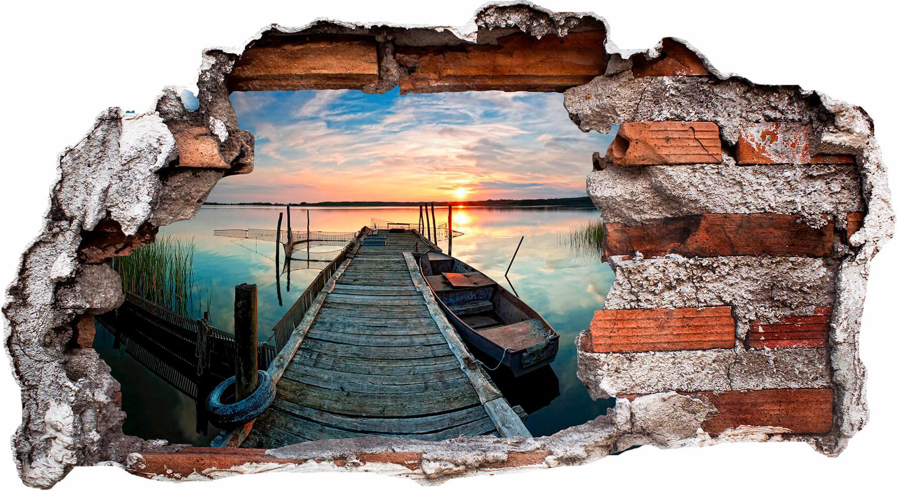 Wandtattoo Sunset at the lake Wohnen/Accessoires & Leuchten/Wohnaccessoires/Wandtattoos und Wandsticker/Wandtattoos Natur