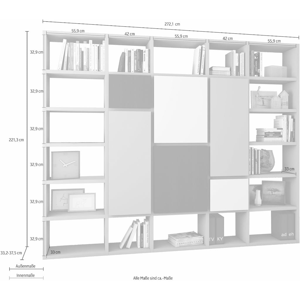 Raumteilerregal »TOR503«, Breite 272 cm