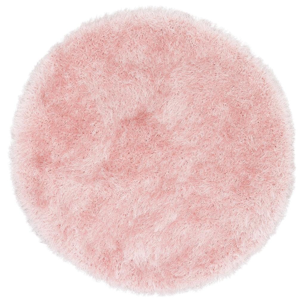 merinos Hochflor-Teppich »Glossy 412«, rund, 70 mm Höhe, besonders weich durch Microfaser, Wohnzimmer