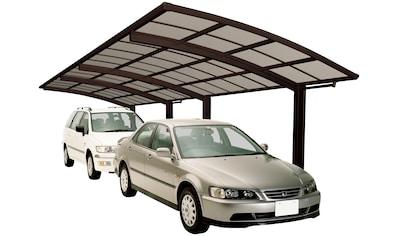 Ximax Doppelcarport »Portoforte Typ 80 Tandem-mattbraun«, Aluminium, 254 cm, braun,... kaufen