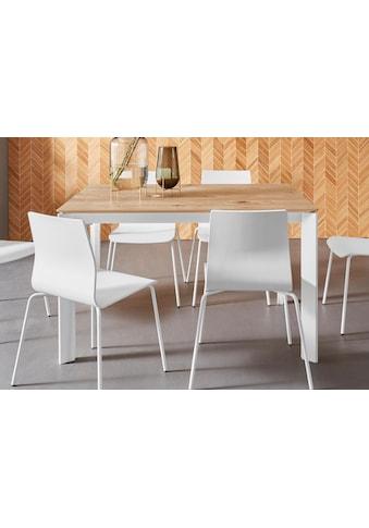 Places of Style Esstisch »Finn«, aus schönem weißen Metallgestell, mit einer... kaufen