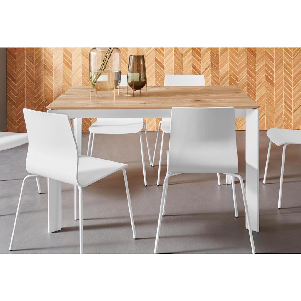 Places of Style Esstisch »Finn«, aus schönem weißen Metallgestell, mit einer praktischen Auszugsfunktion