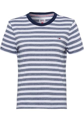 Tommy Jeans Rundhalsshirt »TJW TOMMY CLASSICS STRIPE TEE«, mit unifarbenem... kaufen