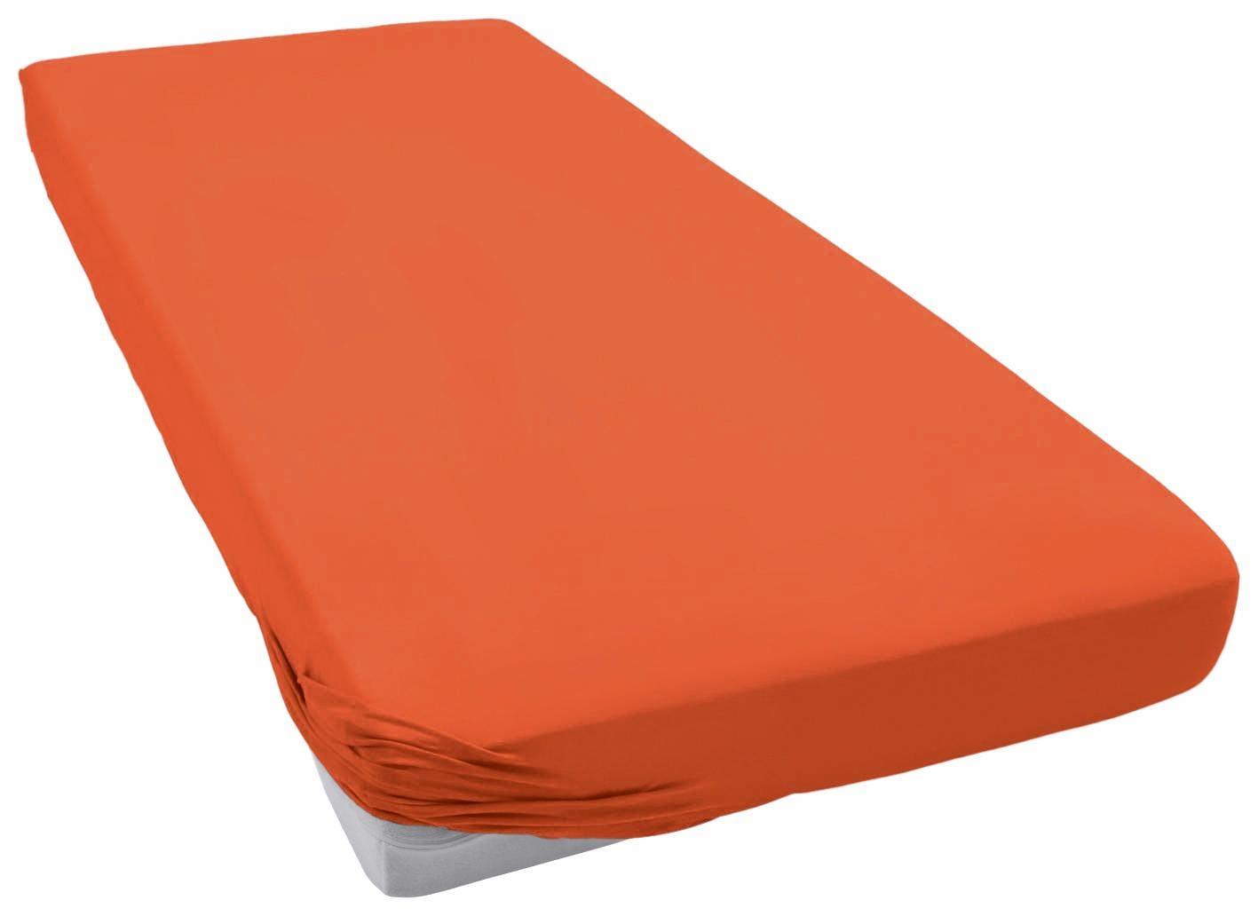 Spannbettlaken »Teddy Flausch«, Primera | Bekleidung > Bademode > Bademäntel | Orange | Flausch - Biber - Baumwolle - Polyester | PRIMERA FIRST SLEEPWARE