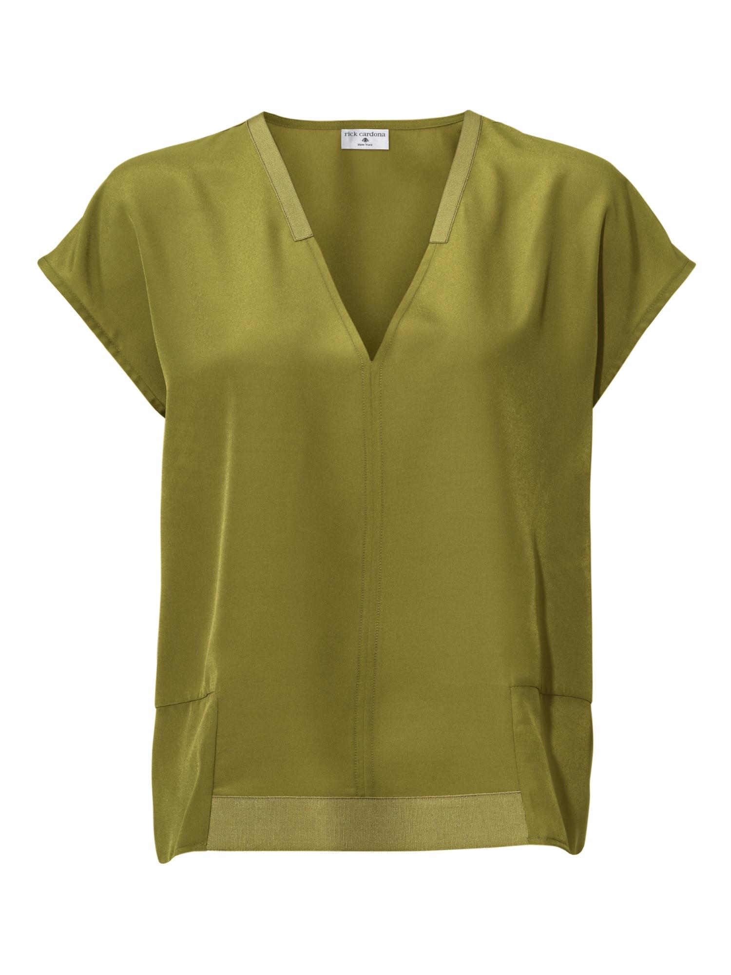 heine STYLE Oversized Bluse mit V-Ausschnitt