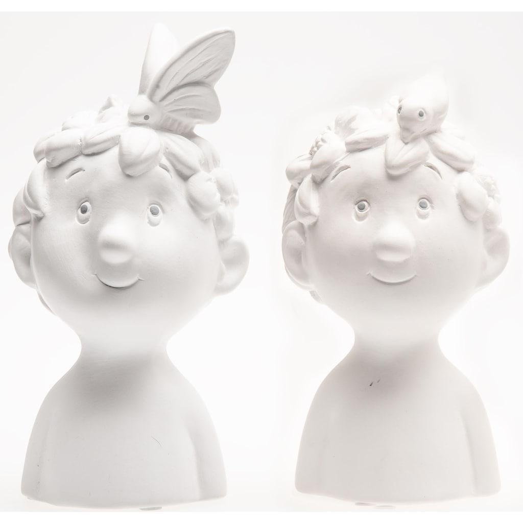 VALENTINO Wohnideen Dekofigur »Büste Bo«, aus Keramik