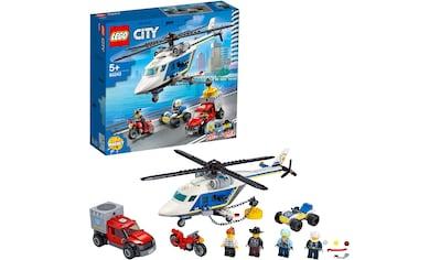 """LEGO® Konstruktionsspielsteine """"Verfolgungsjagd mit dem Polizeihubschrauber (60243), LEGO® City"""", Kunststoff, (212 - tlg.) kaufen"""