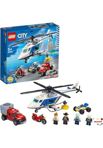 LEGO® Konstruktionsspielsteine »Verfolgungsjagd mit dem Polizeihubschrauber (60243),... kaufen
