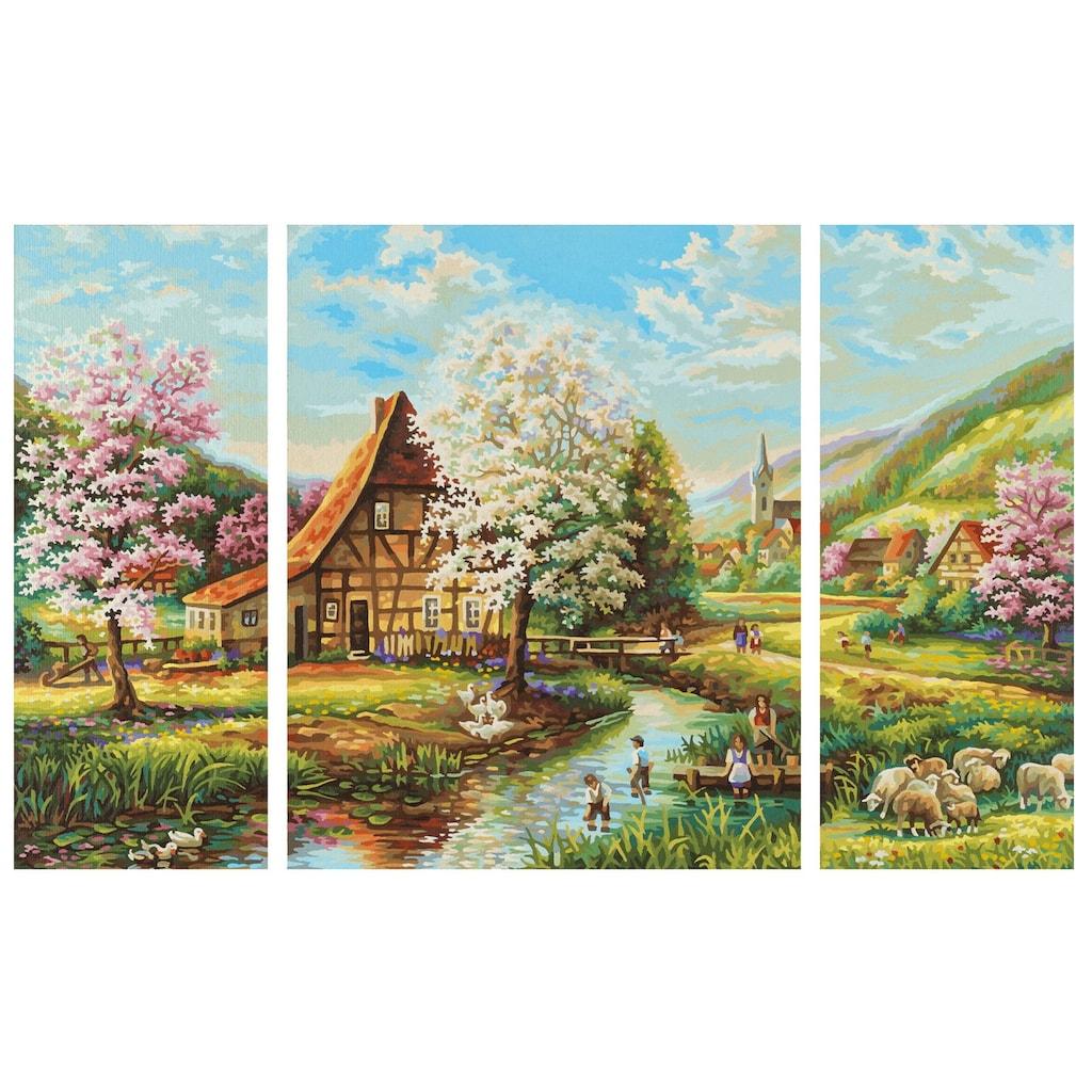 Schipper Malen nach Zahlen »Meisterklasse Triptychon - Ländliche Idylle«, Made in Germany