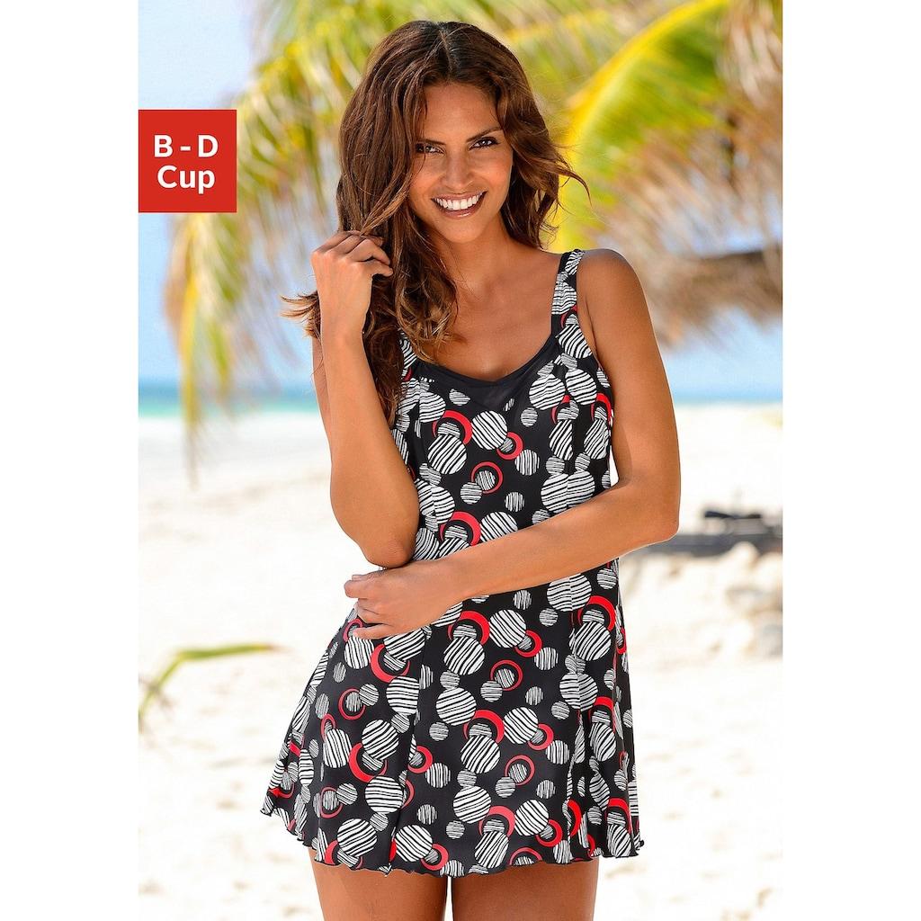 LASCANA Badekleid, mit modischen Kreisen und Shaping-Effekt