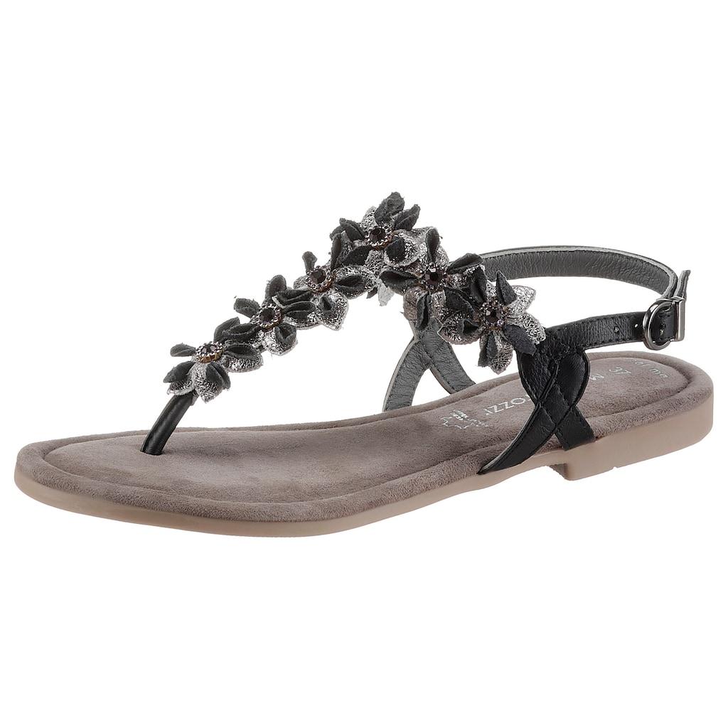 MARCO TOZZI Sandale, mit aufwendiger Blütenverzierung