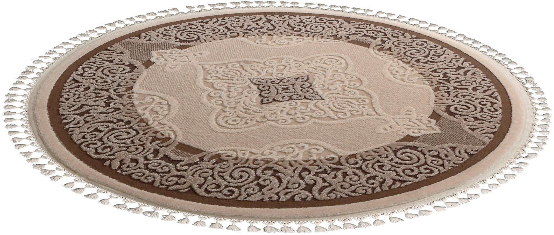 Orientteppich Delüks 6826 Sanat Teppiche rund Höhe 14 mm