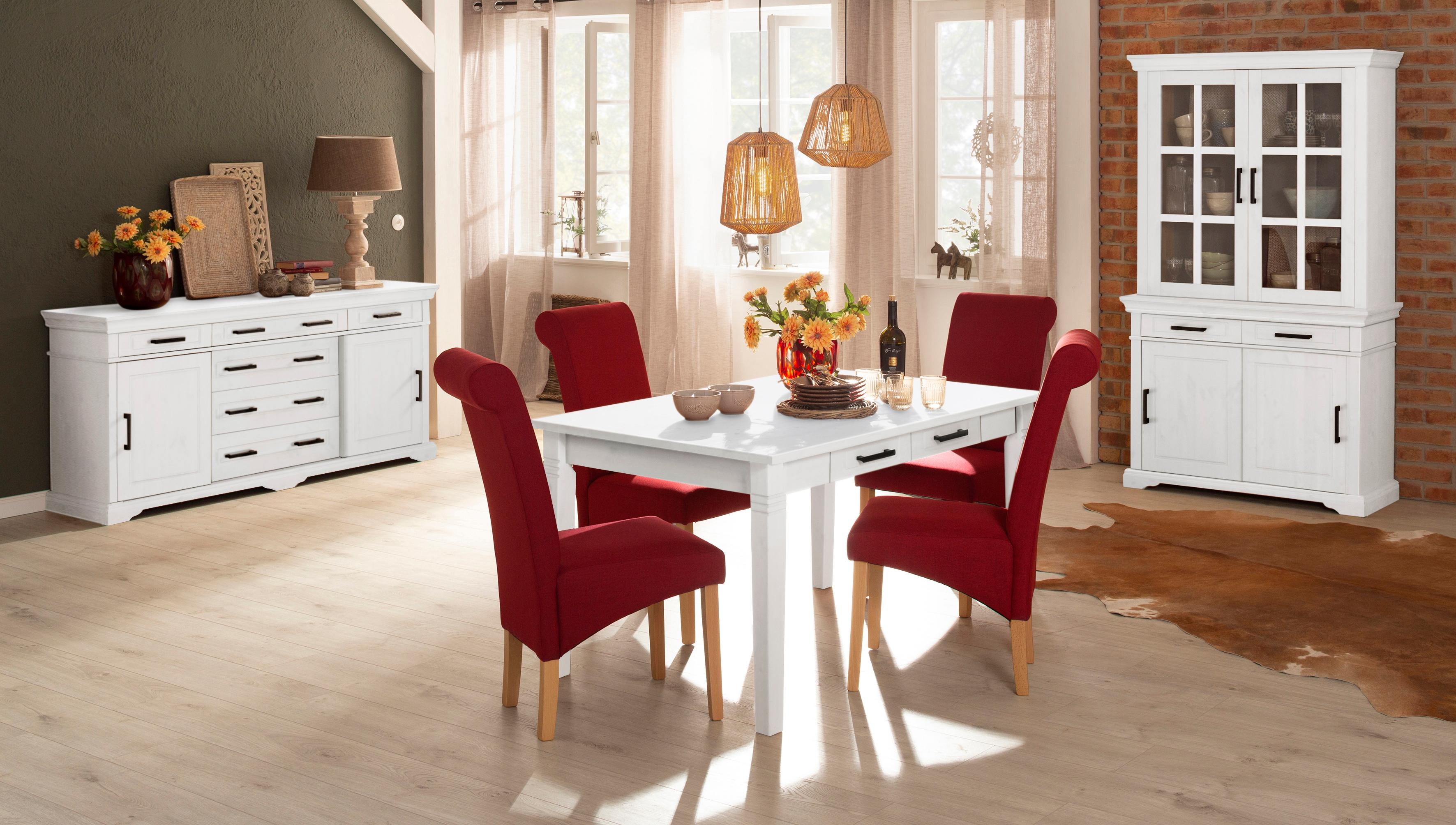 Home affaire Esstisch Anabel, aus massiver Kiefer weiß Holz-Esstische Holztische Tische