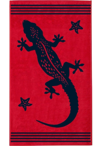 Delindo Lifestyle Strandtuch »Tropical Gecko«, (1 St.), mit jacquard-gewebtem Motiv kaufen