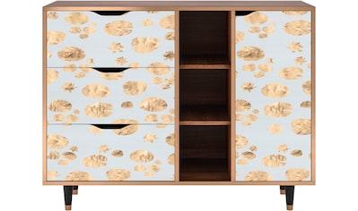 Places of Style Kommode »Blue Gira«, mit dekorativen Print auf den Türen kaufen
