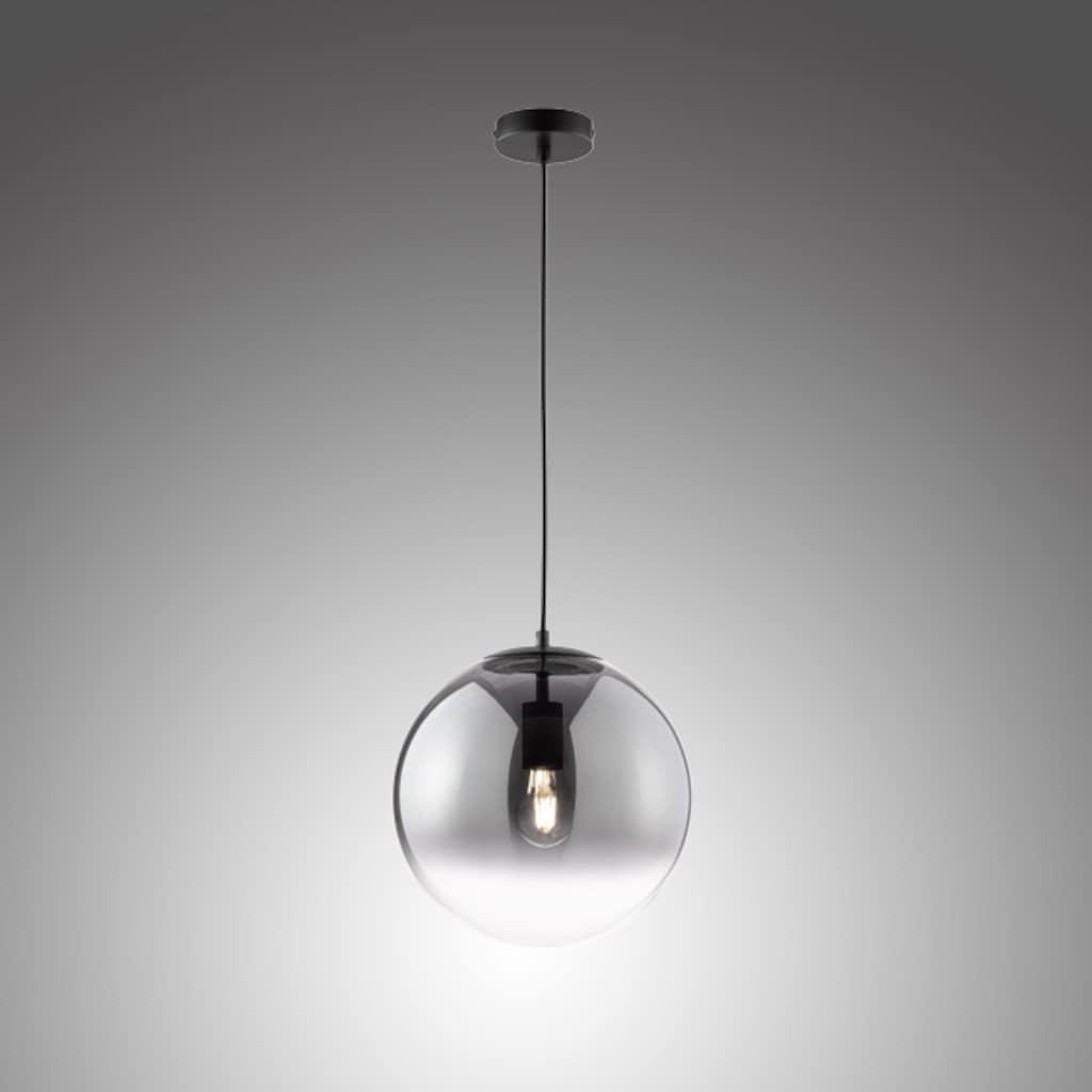 SCHÖNER WOHNEN-Kollektion Pendelleuchte »Mirror«, E27, 1 St., Hängelampe Rauchglas Ø 30 cm
