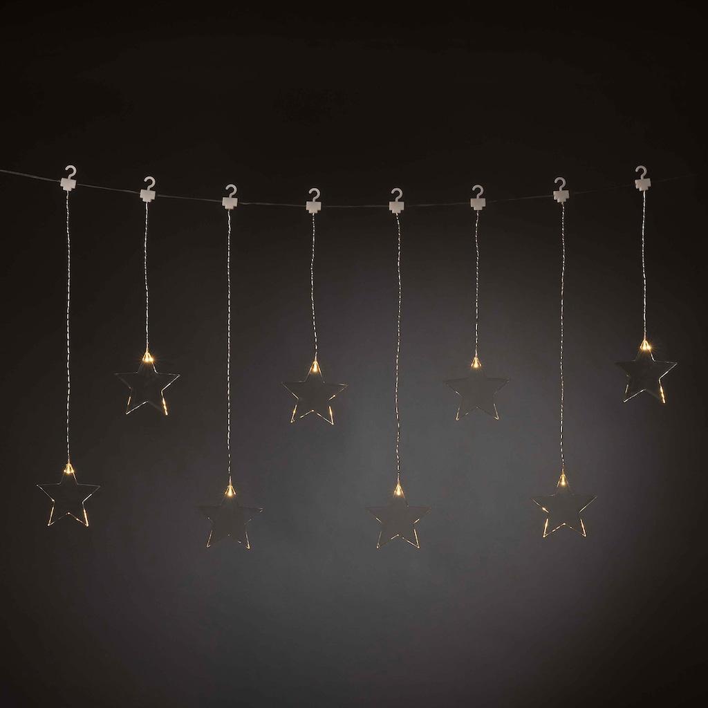 KONSTSMIDE LED Lichtervorhang, 8 Plexisterne