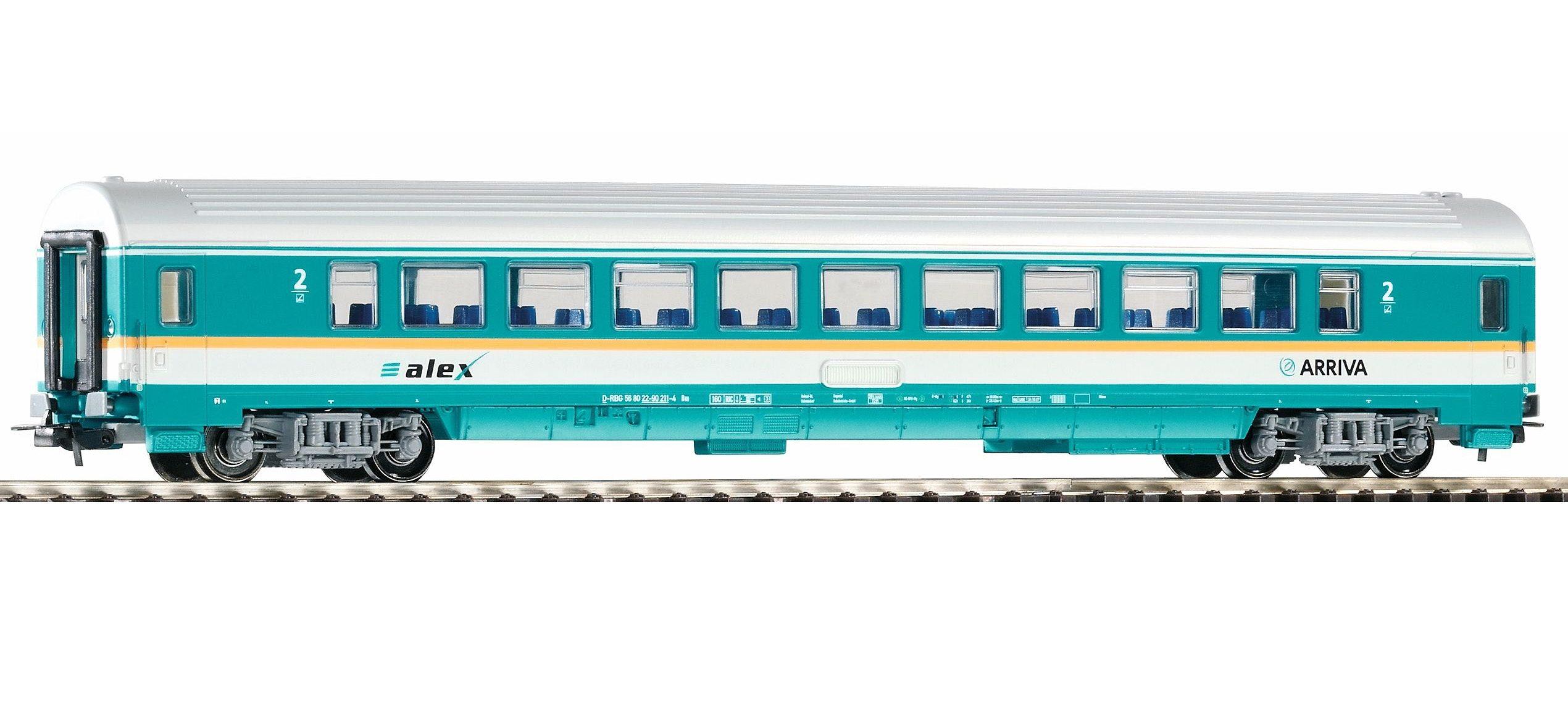 PIKO Personenwagen Waggon Arriva 2. Klasse, Spur H0