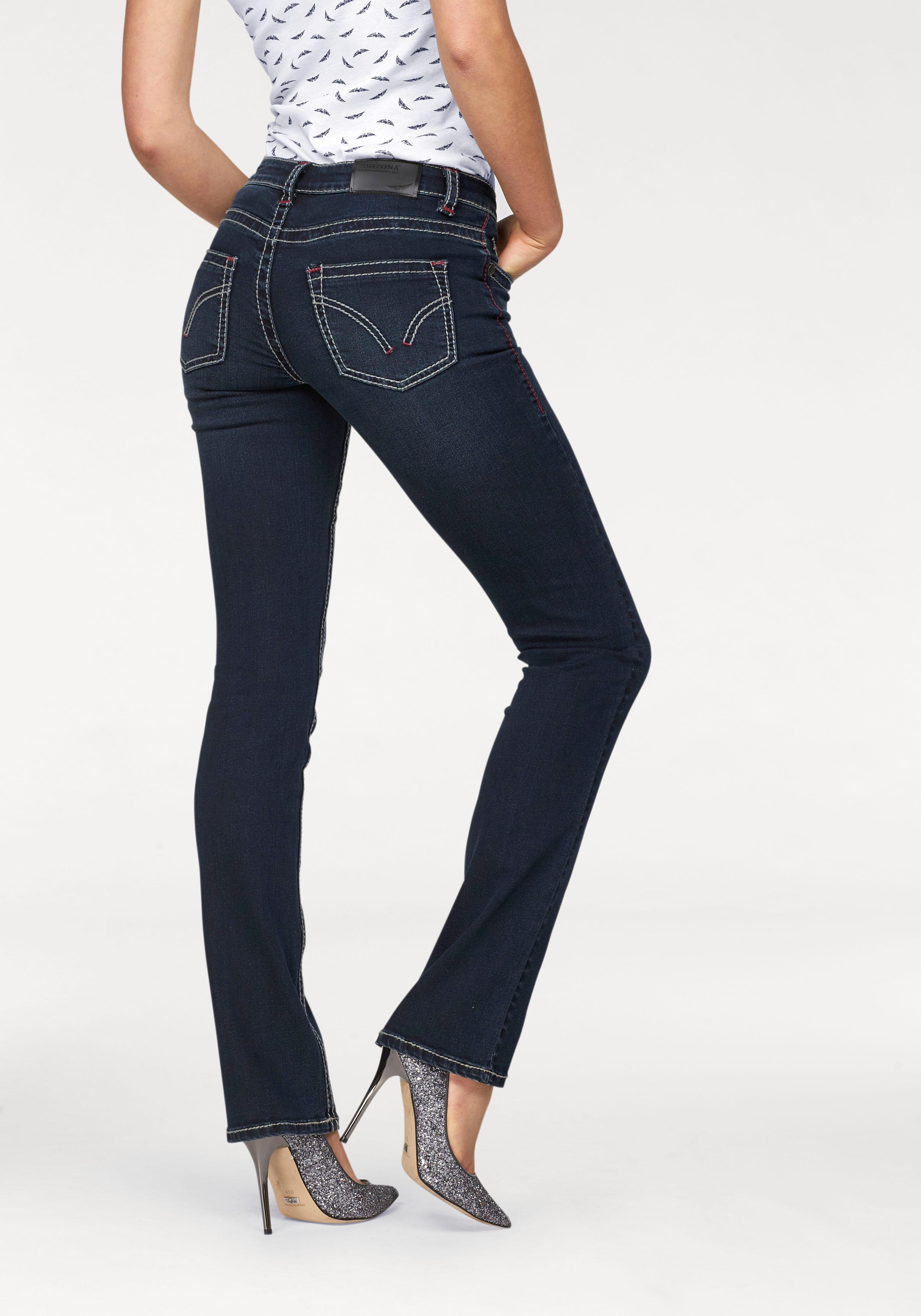 Arizona Gerade Jeans Kontrastnähte   Bekleidung > Jeans > Gerade Jeans   Blau   Arizona