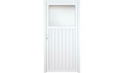 KM MEETH ZAUN GMBH Nebeneingangstür »K605P«, BxH: 108x208 cm cm, weiß, rechts kaufen