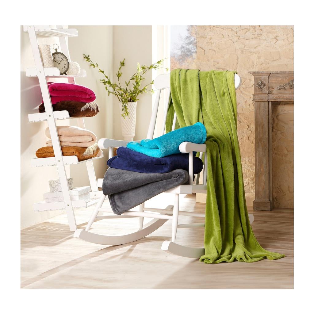 IBENA Wohndecke »Chloe«, einfarbig gehalten