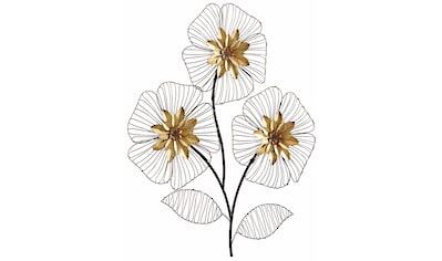 HOFMANN LIVING AND MORE Wanddekoobjekt »Wanddeko Blumenbouquet«, Wanddekoration, Motiv... kaufen