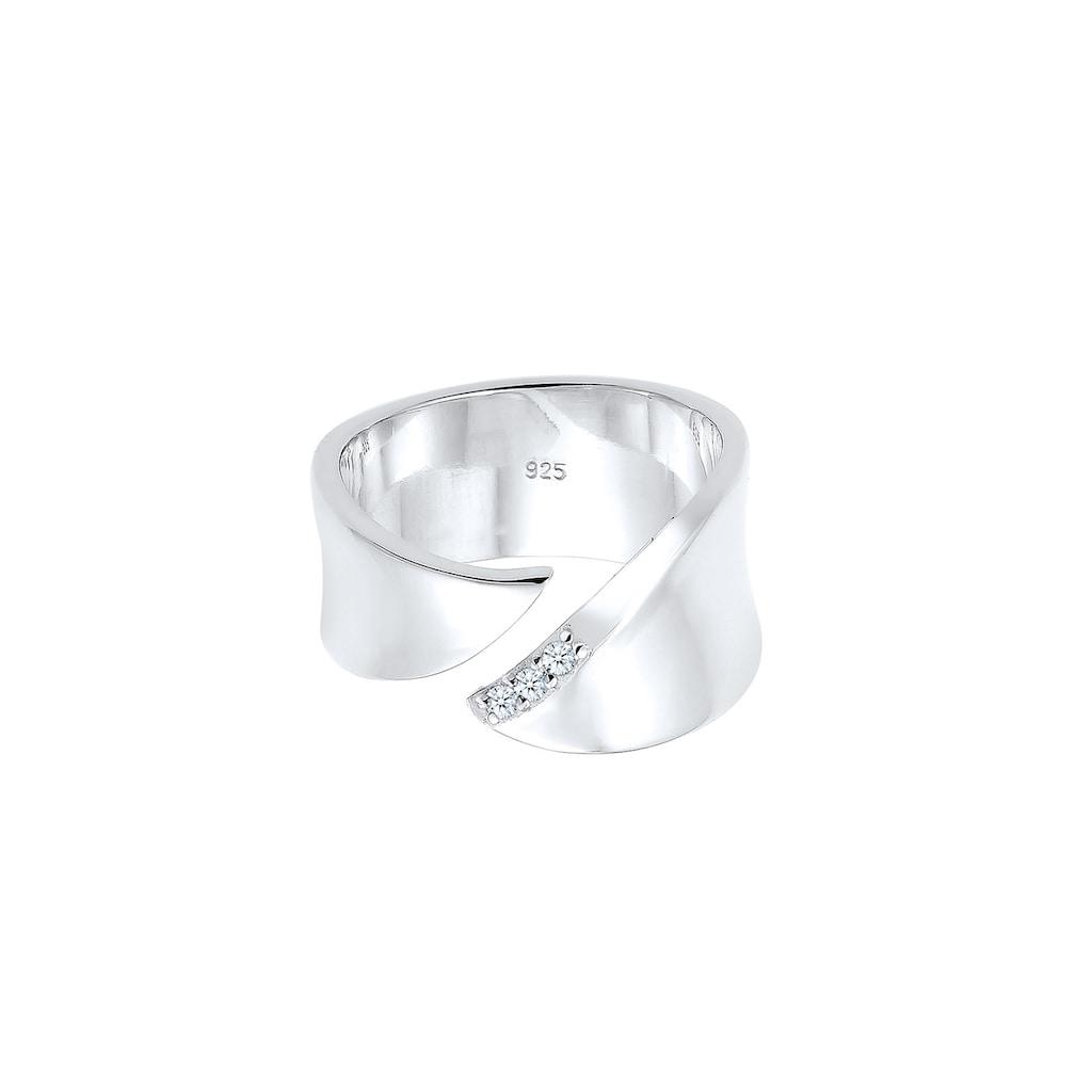 Diamore Diamantring »Wickelring Diamant (0.045 ct.) 925 Silber«