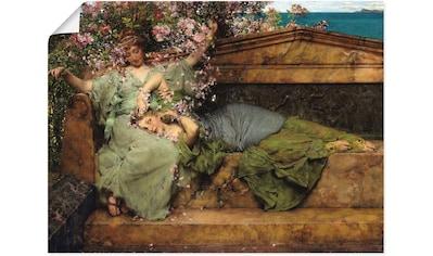 Artland Wandbild »Im Rosengarten.«, Frau, (1 St.), in vielen Größen & Produktarten... kaufen