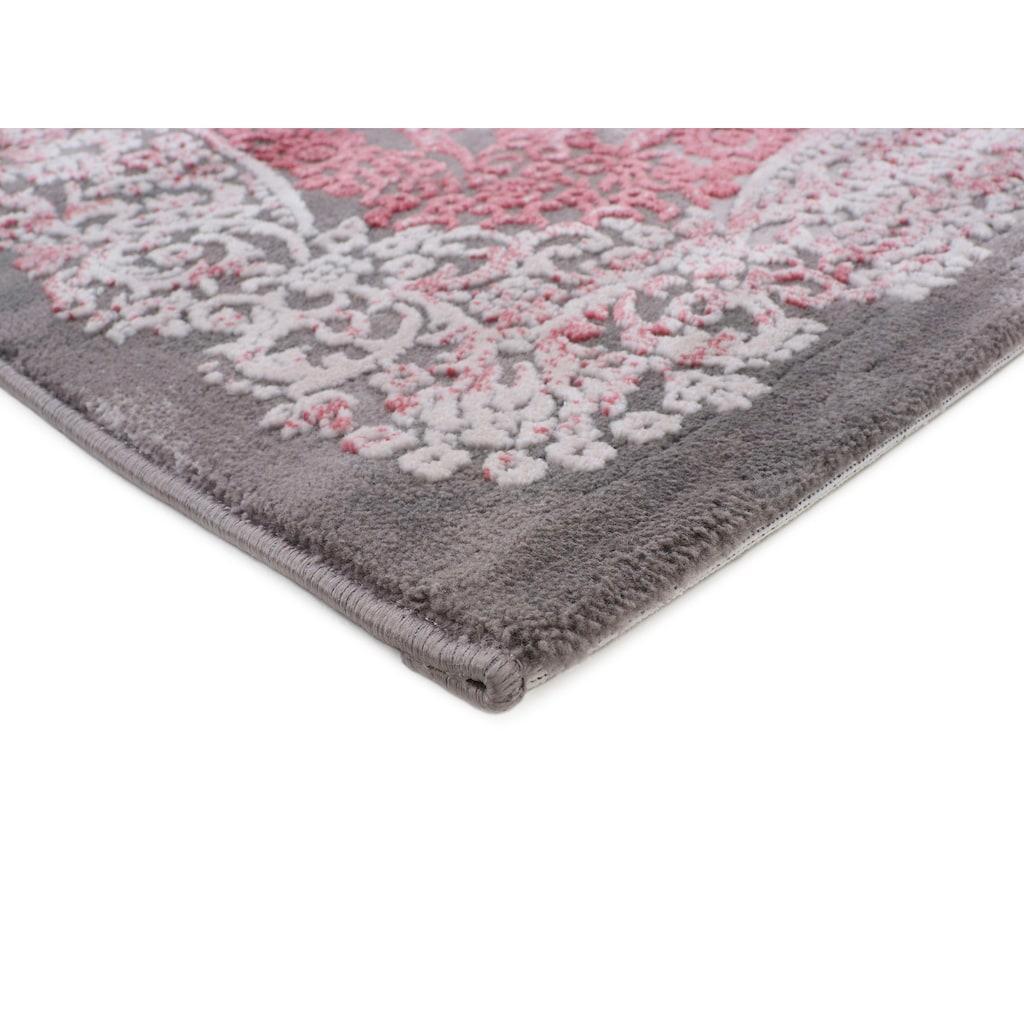 carpetfine Teppich »Vintage Selma«, rechteckig, 5 mm Höhe, Vintage Look im Hoch-Tief-Effekt, Wohnzimmer
